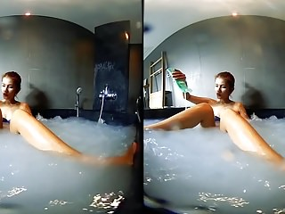 VRpussyVision.com - Wet finger games in the whirlpool Part 3