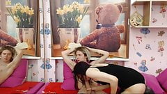 Russian goth couple cam - submissive girl swallow cum