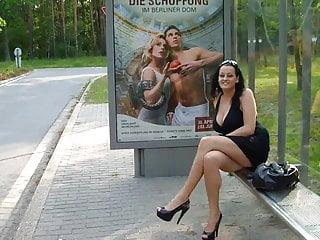 German big breasted amature flashing