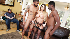 Brooklyn Chase Gives Special Treatment To Her Cuckold Client's Thumb