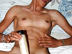 Andreea, masturbating with big vibrator