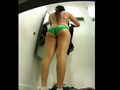 Green panty spied in changing room.mp4