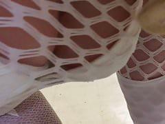 Misty Cane butt plug white lingerie