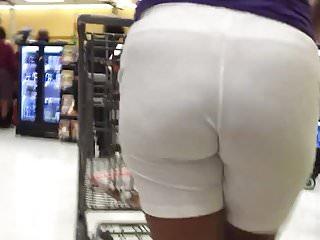 WHITE PANTS BLACK MILF VPL
