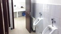 public toilet handjob and cum