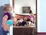 Xander drills his girlfriend and her hot stepmom Farrah Dahl