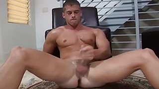 Muscle Hottie Strokes & Cums