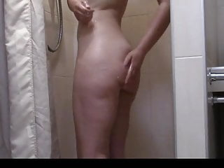 My sister in law last hollyday in shower