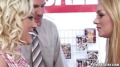 Paige Ashley 3way fucking with Cindy Behr at a store's Thumb
