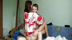 Russian guy fucks his girlfriend on cam