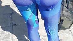 Teen in beautiful fitness leggings (part 1)
