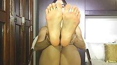 Cute Latina Female With Sexy Feet