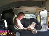 Female Fake Taxi Office worker gets a busty surprise