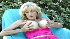 Big tits blonde in solo action outdoors FHD