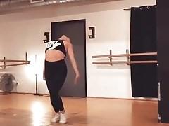 Sexy Asian Teen Dancer Leggings