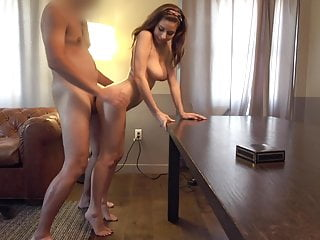standing doggy style, beautiful white girl