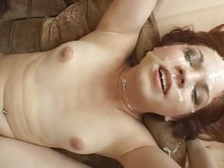 Absolute whore takes multiple cumshots while being fucked