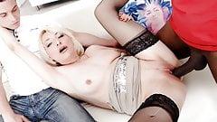 Cuck Granny Adriana Love Bangs a Black