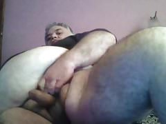 Big trucker daddy dumps a hot steaming load