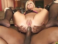 Big Assed Blonde Taking That BBC Up The Ass's Thumb