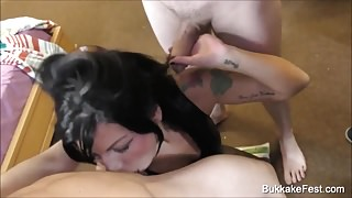 Bukkake Fest Gina Jameson Takes Hot Facial Cum