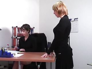 Office Lesbians Turn It Up A Notch