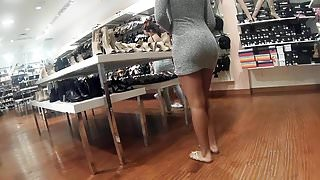 Teen bubble booty tight short dress