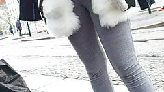 Voyeur teen cameltoe sexy ass leggings,voie bien la chatte 5