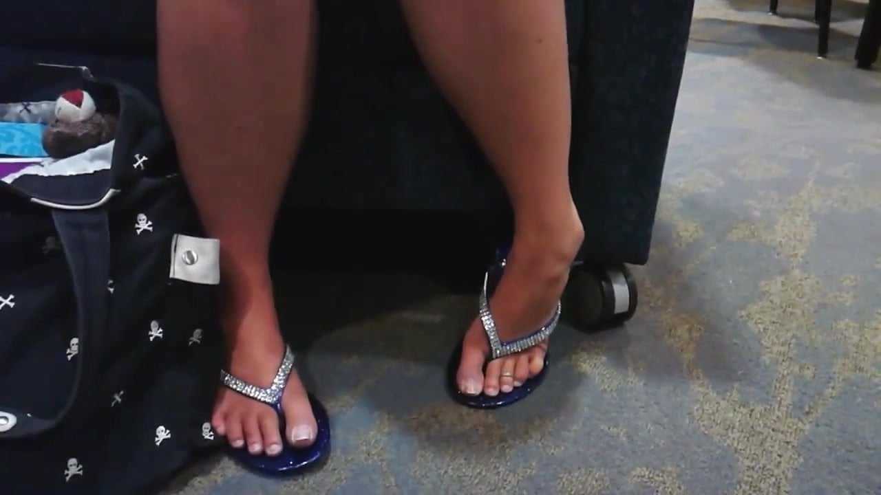 in girls flip flops Anal college