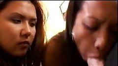 Loni Punoni And Kylie Rey Take Turns Sucking Cock
