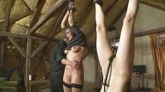 Women getting disciplined on slave farm BDSM