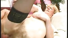 Mature hairy woman fucks 2 - with nice long pussy closeups