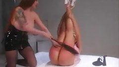 Dominatrix Makes Her Slaves Butt Cheeks Red