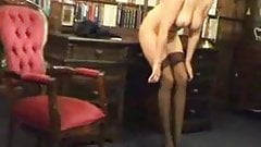big tits blonde in sexy hose and heels