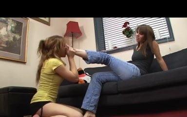 lesbian feet slave worship feet