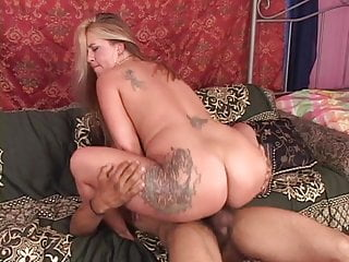 Horny hairy girl with unshaved pussy gets her cunt filled up by big dick