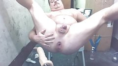JoeyD Anal Machine Face n Front angle GapeSquirt