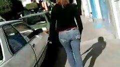 SDRUWS2 - Panty thong walking down the street