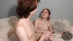 Very hot teen couple fingering before sex