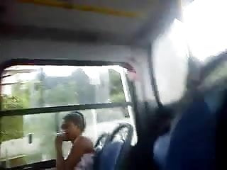 showing cock on the bus