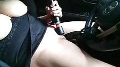 Strap on steering wheel