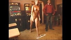 CMNF-Naked Waitress Playing Darts