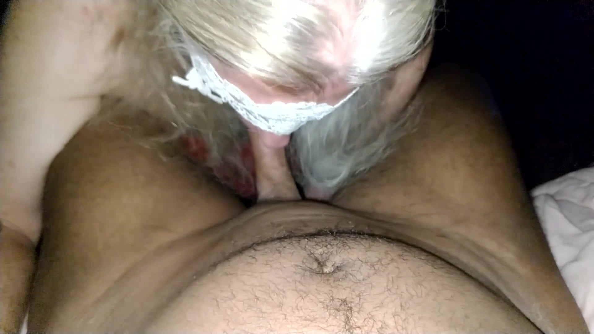 Mature Sissy Sucking Black Cock Outback and Swallow (Load1)