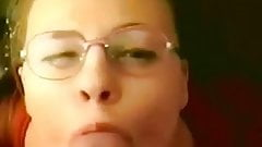 Classic homemade facial with glasses