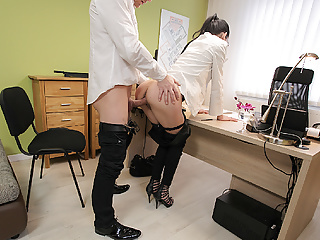 Loank Colleague Drills Mouth And Sissy Of New Very Nice
