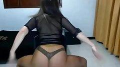 Sheer top and pantyhose dance