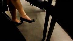 Candid 18yo Feet Shoeplay Legs in Class