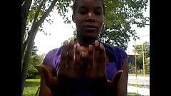 Ashley Asberry Blue Toenails