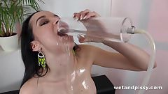 Wetandpissy - Tiny Wet Hotpants - Peeing Her Pants
