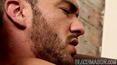 Latino jock Alejandro Alvarez cums stroking and anal playing